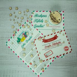 Tikras Kalėdų senelio laiškas su žaisliuku eglutei